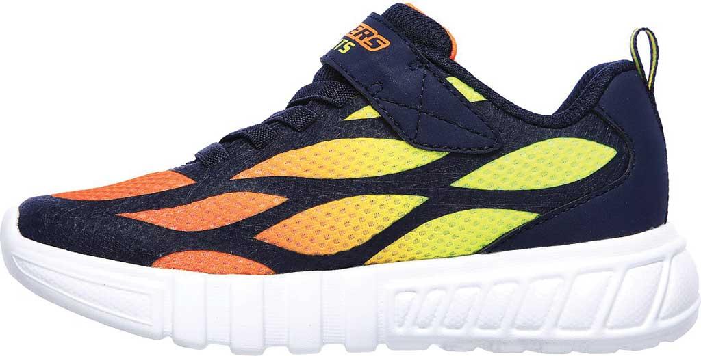 Boys' Skechers S Lights Flex-Glow Dezlo Sneaker, Navy/Orange, large, image 3