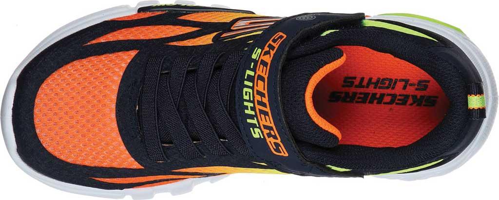 Boys' Skechers S Lights Flex-Glow Dezlo Sneaker, Navy/Orange, large, image 4