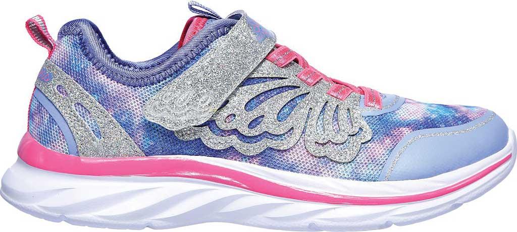 Girls' Skechers Quick Kicks Fairy Glitz Sneaker, Periwinkle/Pink, large, image 2