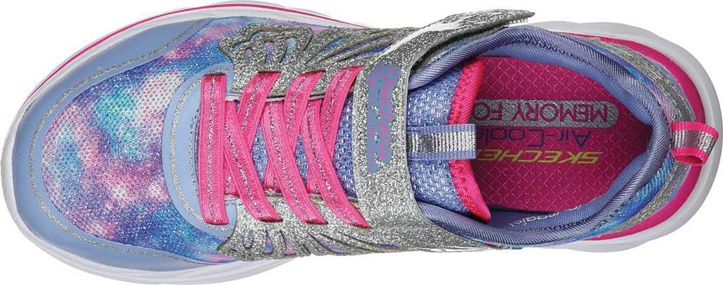 Girls' Skechers Quick Kicks Fairy Glitz Sneaker, Periwinkle/Pink, large, image 4
