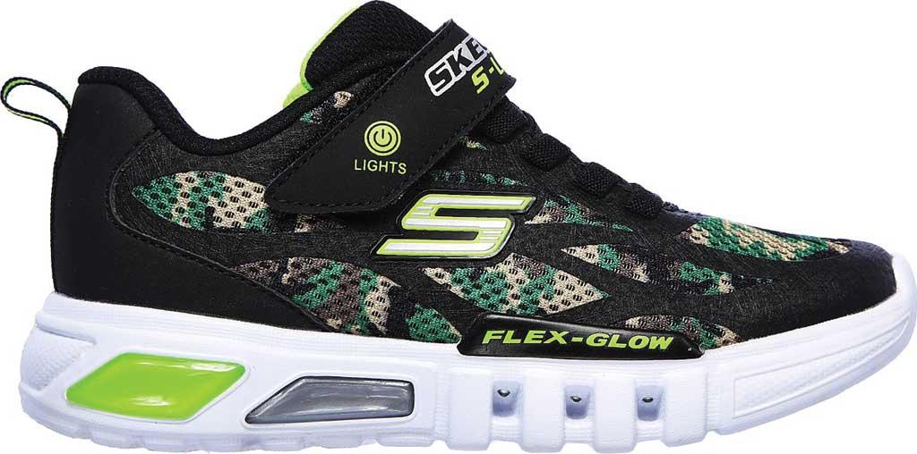 Boys' Skechers S Lights Flex-Glow Rondler Sneaker, Camouflage, large, image 2