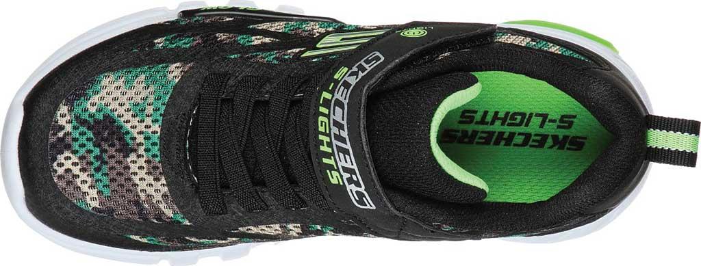 Boys' Skechers S Lights Flex-Glow Rondler Sneaker, Camouflage, large, image 4