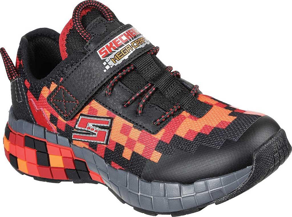 Boys' Skechers Mega-Craft Sneaker, Black/Red, large, image 1