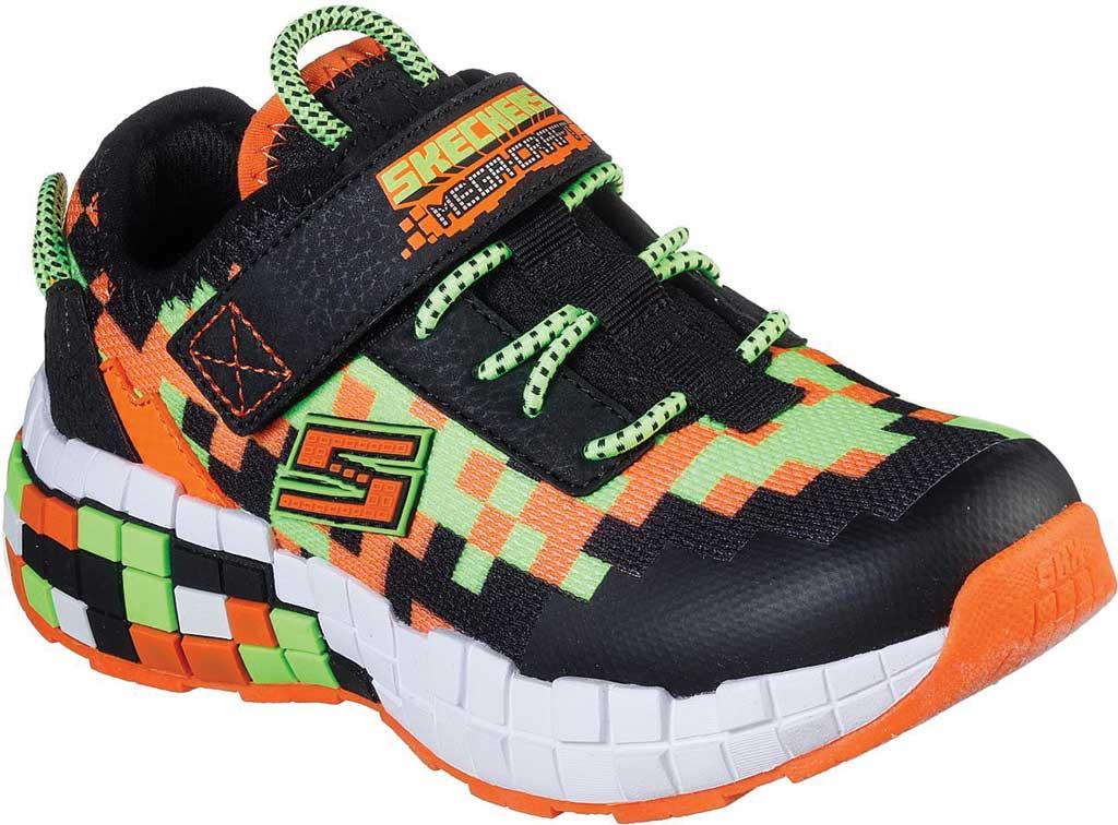 Boys' Skechers Mega-Craft Sneaker, Black/Orange, large, image 1