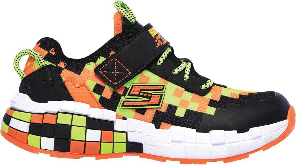 Boys' Skechers Mega-Craft Sneaker, Black/Orange, large, image 2