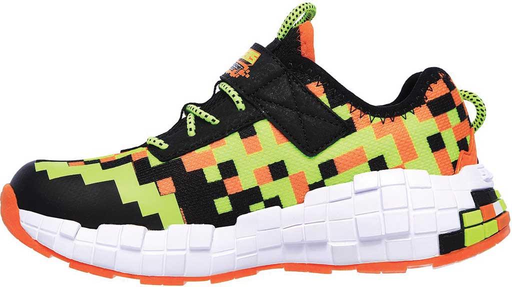 Boys' Skechers Mega-Craft Sneaker, Black/Orange, large, image 3
