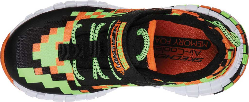 Boys' Skechers Mega-Craft Sneaker, Black/Orange, large, image 4