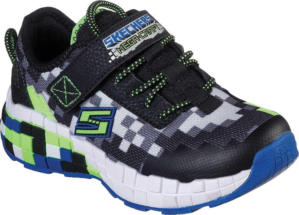 Boys' Skechers Mega-Craft Sneaker, Black/Blue/Lime, large, image 1