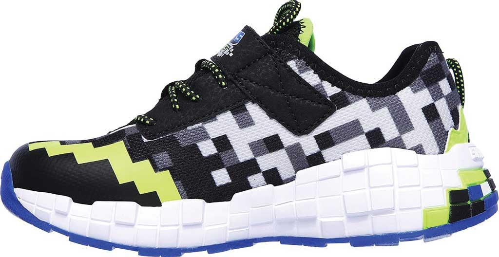 Boys' Skechers Mega-Craft Sneaker, Black/Blue/Lime, large, image 3