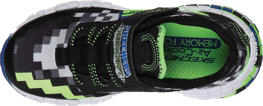 Boys' Skechers Mega-Craft Sneaker, Black/Blue/Lime, large, image 4