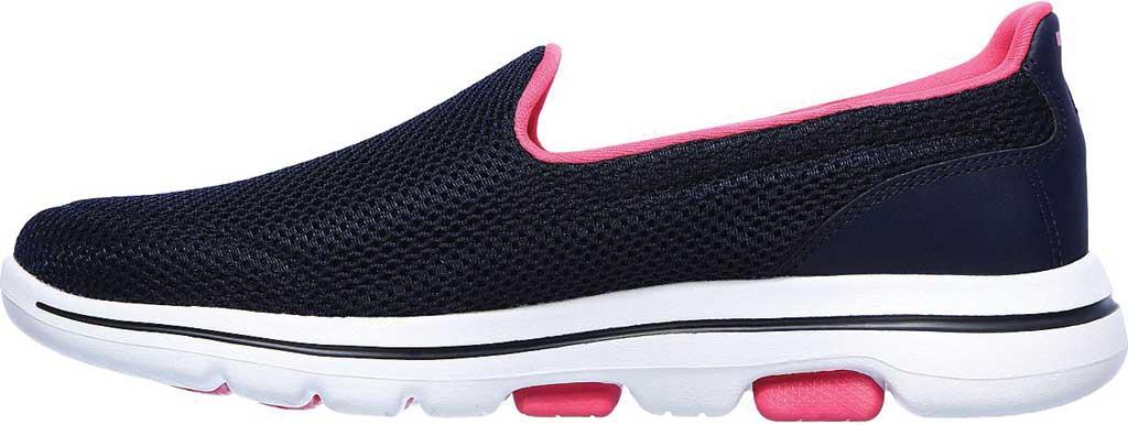 Women's Skechers GOwalk 5 Fantasy Slip-On, Navy/Hot Pink, large, image 3