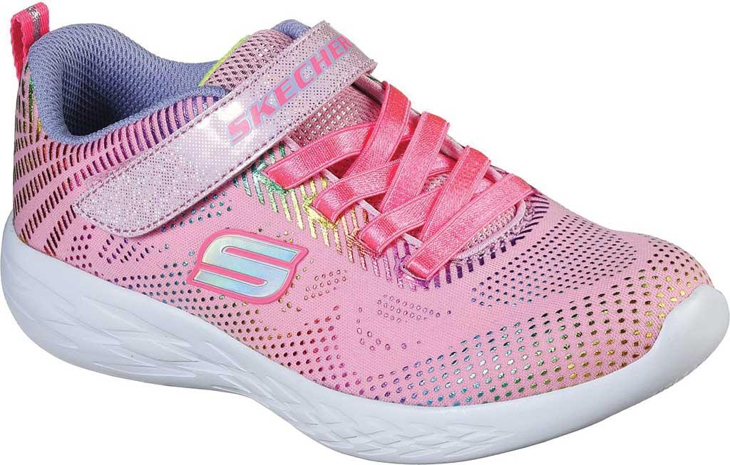 Girls' Skechers GOrun 600 Shimmer Speed Sneaker, Light Pink/Multi, large, image 1