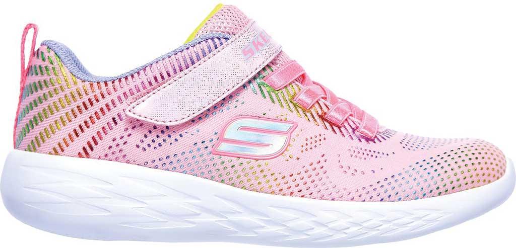 Girls' Skechers GOrun 600 Shimmer Speed Sneaker, Light Pink/Multi, large, image 2