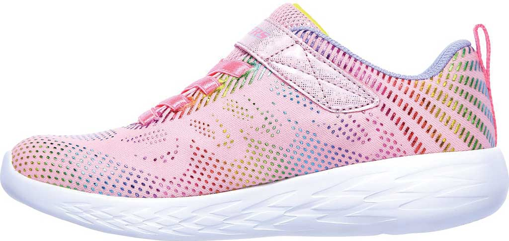 Girls' Skechers GOrun 600 Shimmer Speed Sneaker, Light Pink/Multi, large, image 3