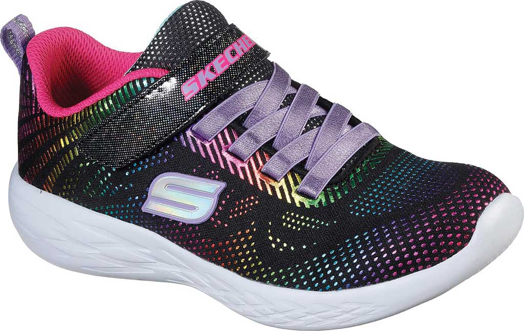 Girls' Skechers GOrun 600 Shimmer Speed Sneaker, Black/Multi, large, image 1
