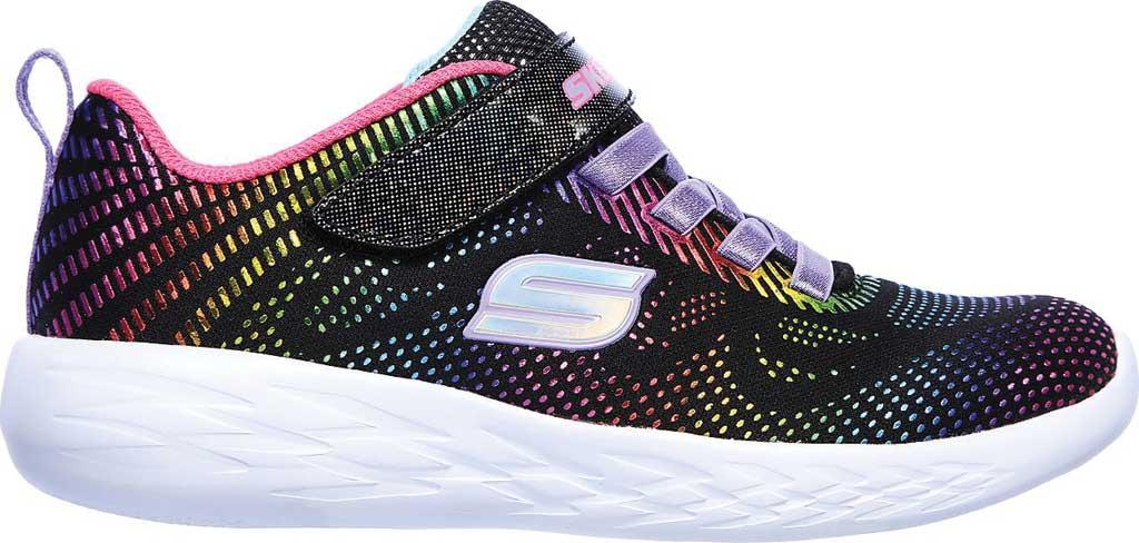 Girls' Skechers GOrun 600 Shimmer Speed Sneaker, Black/Multi, large, image 2