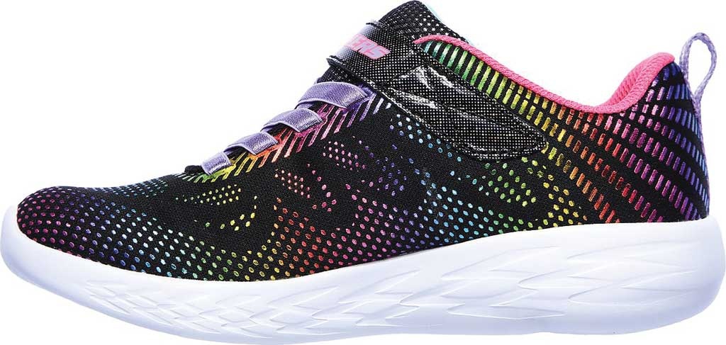 Girls' Skechers GOrun 600 Shimmer Speed Sneaker, Black/Multi, large, image 3