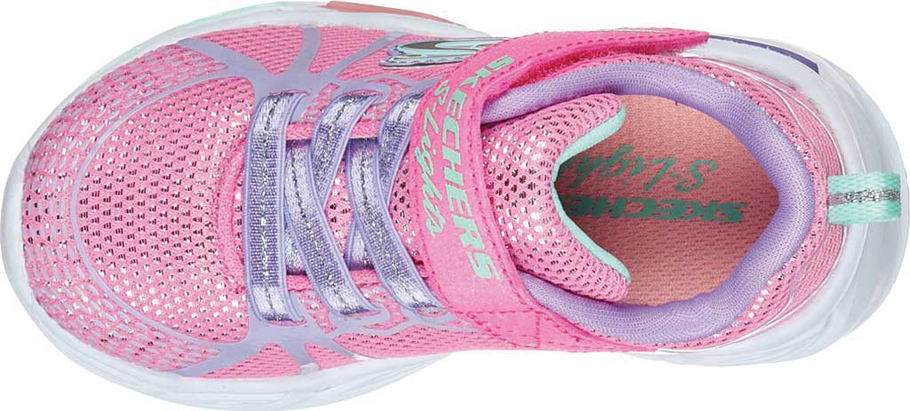 Infant Girls' Skechers S Lights Shimmer Beams Sporty Glow Sneaker, Pink/Multi, large, image 4