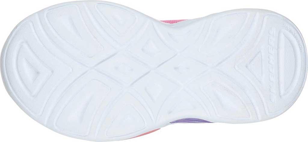 Infant Girls' Skechers S Lights Shimmer Beams Sporty Glow Sneaker, Pink/Multi, large, image 5