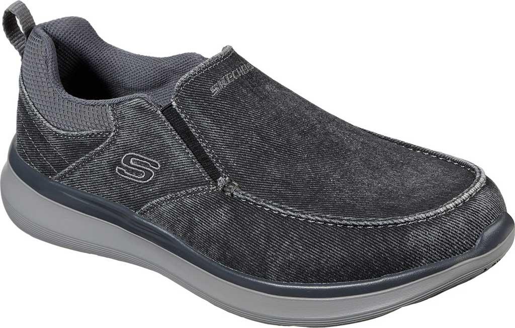 Men's Skechers Delson 2.0 Larwin Slip On, Black, large, image 1