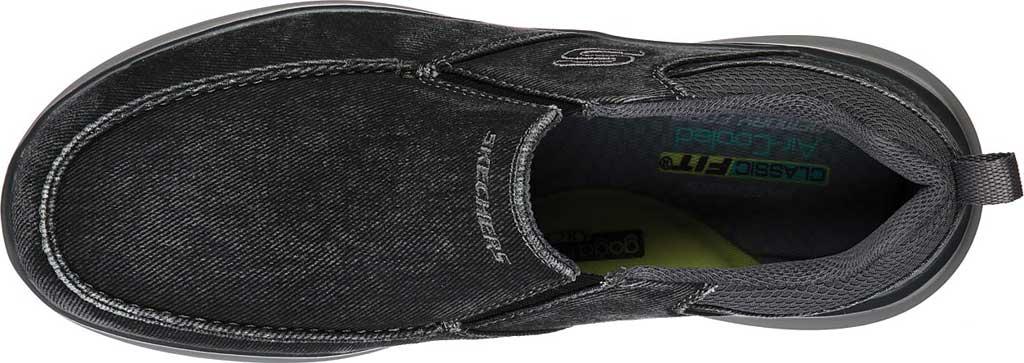 Men's Skechers Delson 2.0 Larwin Slip On, Black, large, image 4