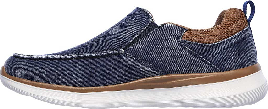 Men's Skechers Delson 2.0 Larwin Slip On, Navy, large, image 3