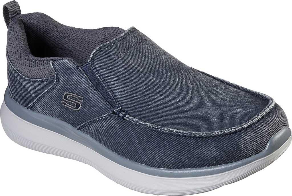 Men's Skechers Delson 2.0 Larwin Slip On, Blue, large, image 1