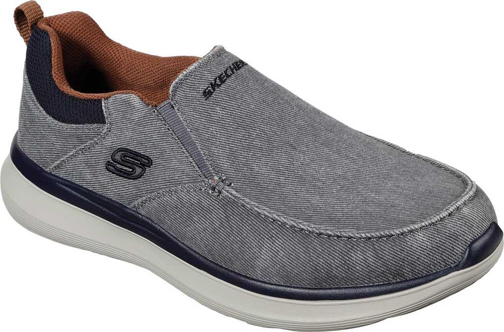 Men's Skechers Delson 2.0 Larwin Slip On, Gray, large, image 1
