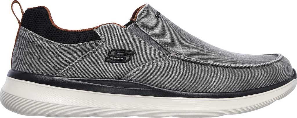 Men's Skechers Delson 2.0 Larwin Slip On, Gray, large, image 2