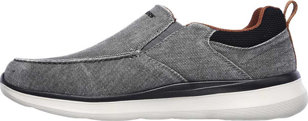 Men's Skechers Delson 2.0 Larwin Slip On, Gray, large, image 3