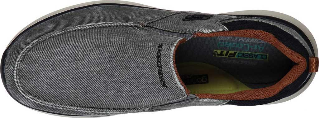 Men's Skechers Delson 2.0 Larwin Slip On, Gray, large, image 4