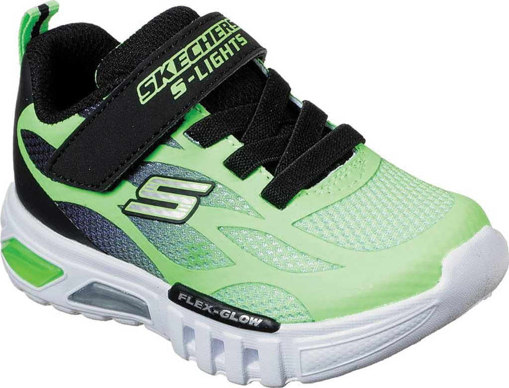 Infant Boys' Skechers S Lights Flex-Glow Dezlo Sneaker, Lime/Black, large, image 1
