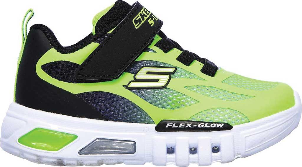 Infant Boys' Skechers S Lights Flex-Glow Dezlo Sneaker, Lime/Black, large, image 2