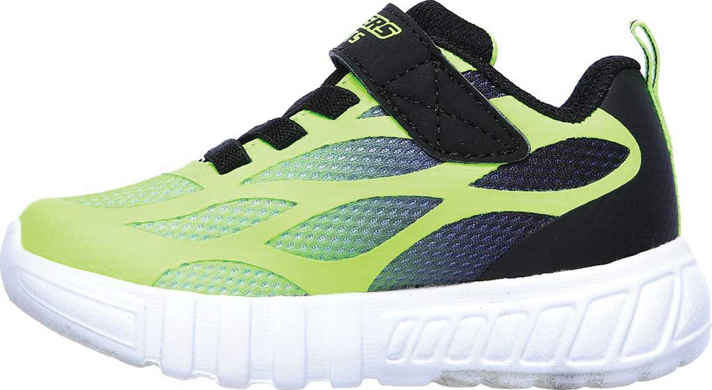 Infant Boys' Skechers S Lights Flex-Glow Dezlo Sneaker, Lime/Black, large, image 3