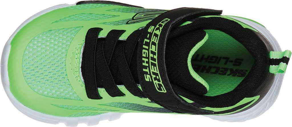 Infant Boys' Skechers S Lights Flex-Glow Dezlo Sneaker, Lime/Black, large, image 4