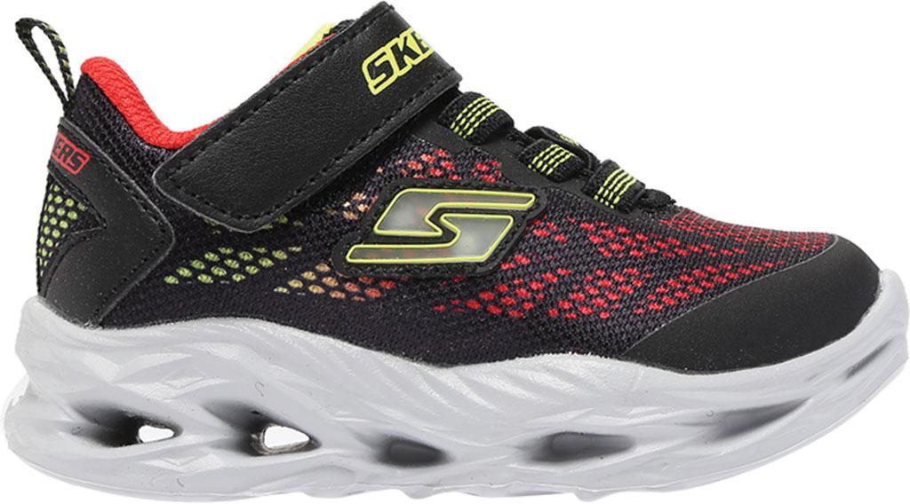 Infant Boys' Skechers S Lights Vortex-Flash Sneaker, Black/Red, large, image 2