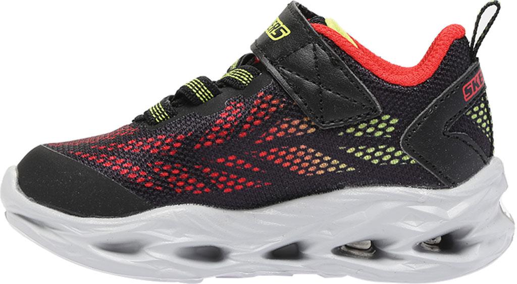 Infant Boys' Skechers S Lights Vortex-Flash Sneaker, Black/Red, large, image 3