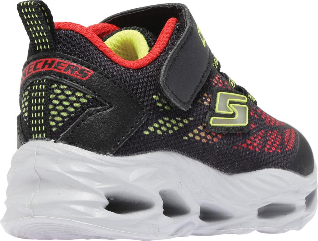 Infant Boys' Skechers S Lights Vortex-Flash Sneaker, Black/Red, large, image 4