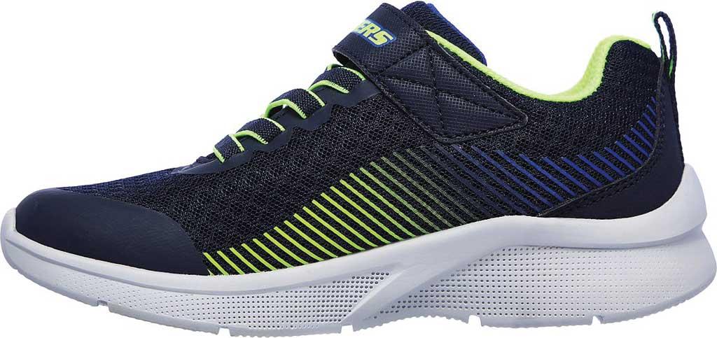 Boys' Skechers Microspec Gorza Sneaker, Navy/Lime, large, image 3
