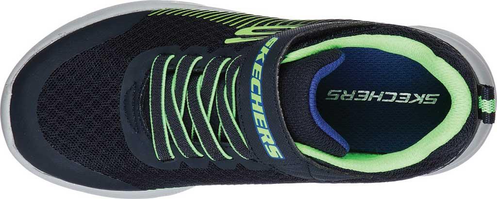 Boys' Skechers Microspec Gorza Sneaker, Navy/Lime, large, image 4