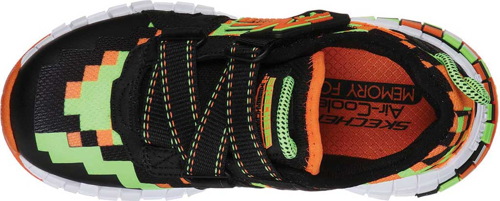 Boys' Skechers Mega-Craft Cubotrons Sneaker, Black/Orange, large, image 4