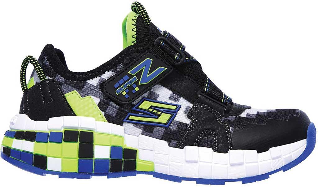 Boys' Skechers Mega-Craft Cubotrons Sneaker, Black/Blue/Lime, large, image 2