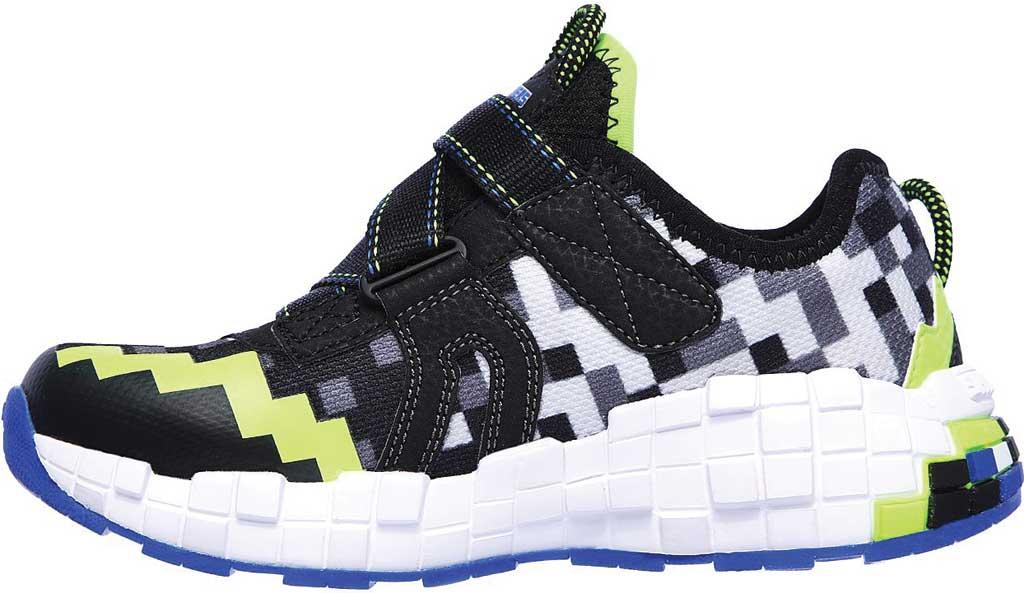 Boys' Skechers Mega-Craft Cubotrons Sneaker, Black/Blue/Lime, large, image 3