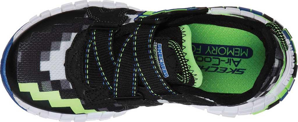 Boys' Skechers Mega-Craft Cubotrons Sneaker, Black/Blue/Lime, large, image 4