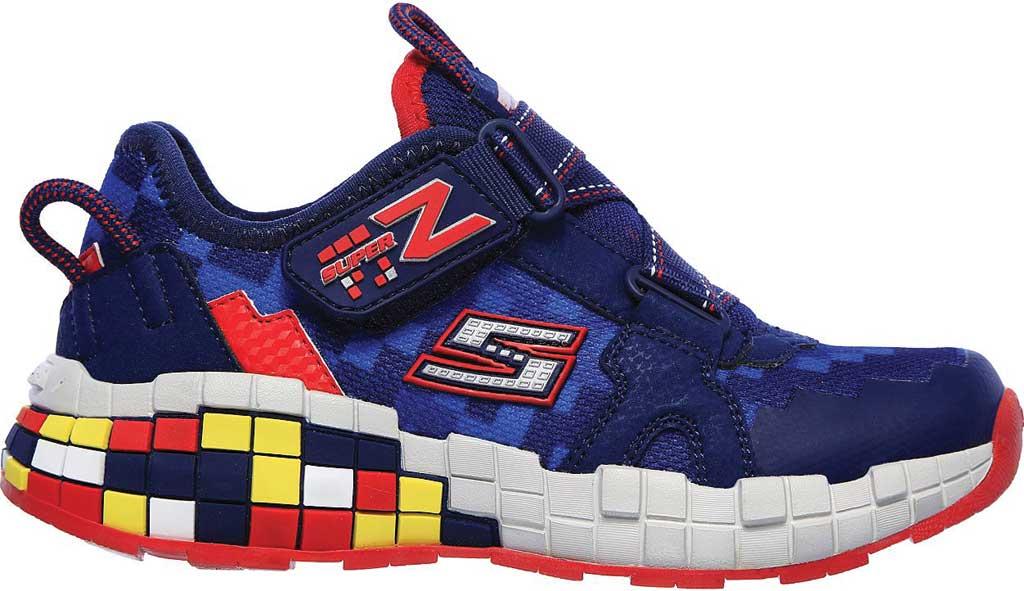Boys' Skechers Mega-Craft Cubotrons Sneaker, Navy/Red, large, image 2