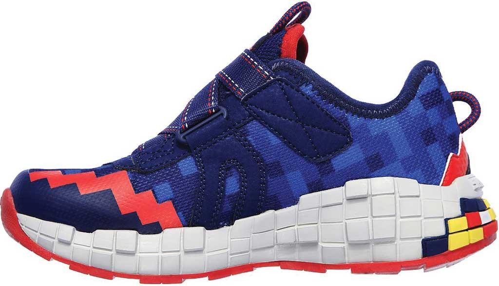 Boys' Skechers Mega-Craft Cubotrons Sneaker, Navy/Red, large, image 3