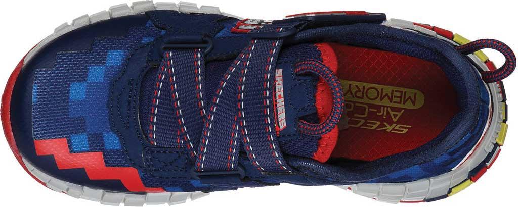 Boys' Skechers Mega-Craft Cubotrons Sneaker, Navy/Red, large, image 4