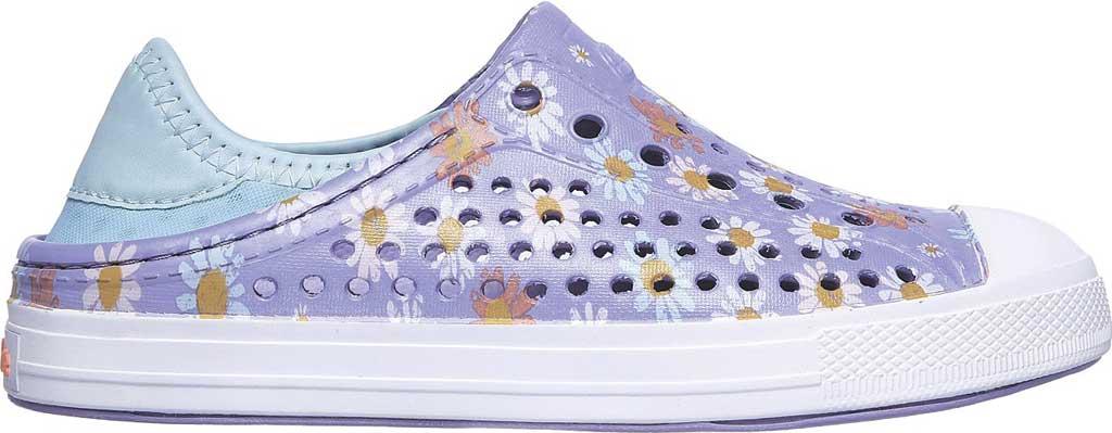 Girls' Skechers Foamies Guzman Steps Hello Daisy Sneaker, Lavender, large, image 2