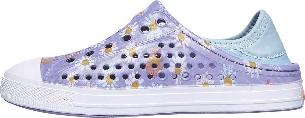 Girls' Skechers Foamies Guzman Steps Hello Daisy Sneaker, Lavender, large, image 3