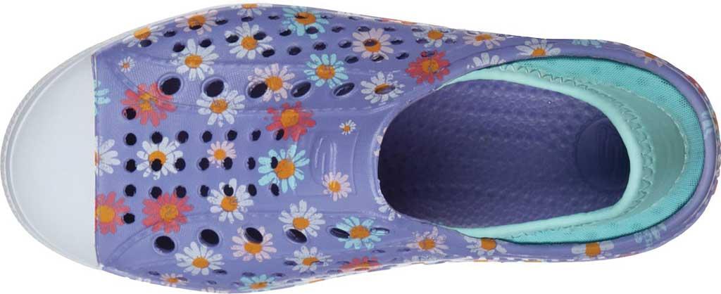 Girls' Skechers Foamies Guzman Steps Hello Daisy Sneaker, Lavender, large, image 4